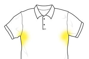Deodorantvlekken verwijderen uit witte kleding
