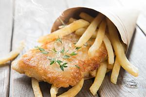 Patat frites met azijn